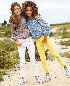 Ralph Lauren Kids Separates, Girls Smocked Shirt and Skinny Pants - Kids Ralph Lauren Girls 7-16 - Macys