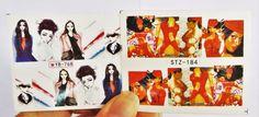 2 sheets Red Elektra Nail Wrap, Marvel Comics, Anime Girl Nail Design, Nail Art  | eBay