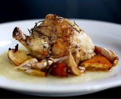 ovnstegt kylling med hvidløg
