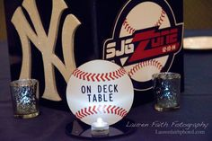 Custom Table Signs | Baseball Table Sign