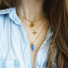 New Dainty Gold Shark Tooth Charm Necklace now available  link to shop in bio! #MoiraMackenzie #jewels #jewelry #new #gold #golden #gypsy #indie #instagood #pretty #photooftheday #boho #bohemian #blue #accessories #style #shopsmall #shoponline #fashion #festivalfashion #etsy #ootd