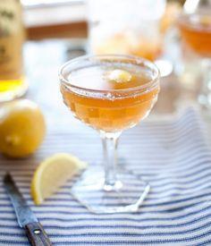 Bourbon, ginger, orange + lemon cocktail