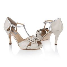 Dottie Ivory Platform Wedding Shoes