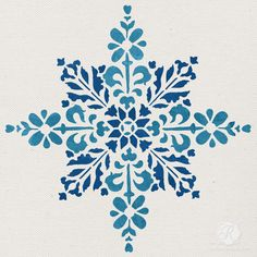 Embroidered Star Moroccan Christmas Stencil from Royal Design Studio