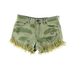 Take a walk on the wild wide with cute women's camouflage  clothing. I love all things camouflage  especially camo women's dresses as they are the epitome of sexy. A close second are camouflage shirts and  tops. Last but not least I love both camouflage  leggings and camouflage shorts and camouflage pants.       Free People Cut Off Camo Embellished Denim Shorts in Castro Wash (31)