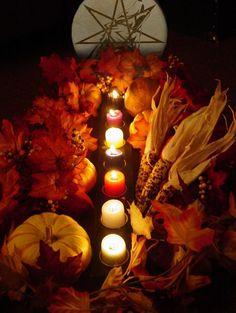 """Altars:  """"Kykora #Altar"""" (Samhain Altar), by Trea-Silverwolf, at deviantART."""