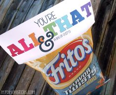 """DIY """"You're All That + a Bag of Chips"""" Chip Gift #DIY #ValentinesDay #Chips"""