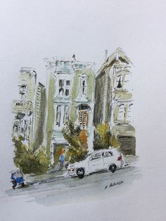 Victorian Town House, San Francisco by Leisure Painter - Keith Butcher sent in this pen and wash version of this project The Artist Magazine, Pen And Wash, Town House, Magazines, Exercises, San Francisco, Victorian, Ink, Projects