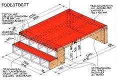 Hochbett selber bauen mit materialliste und bauanleitung - Podestbett bauen ...