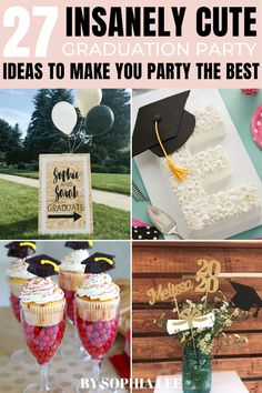2021 high school graduation party ideas Vintage Graduation Party, Outdoor Graduation Parties, Graduation Crafts, Graduation Party Centerpieces, High School Graduation Gifts, Graduation Party Supplies, Graduation Party Ideas High School, Graduation Decorations, Grad Parties