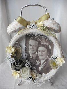 Crafting4fun: Altered clock vintage