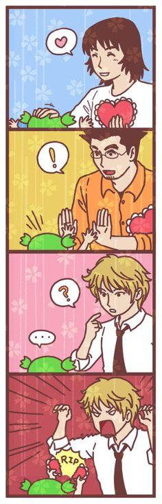 Yotsuba Valentines Day Yonkoma by superdonut