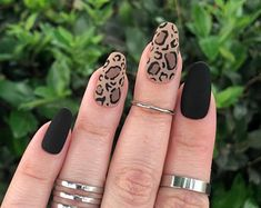 Cute Acrylic Nails, Glue On Nails, Matte Nails, Stiletto Nails, Coffin Nails, Leopard Print Nails, Red Leopard, Crystal Nails, Hot Nails