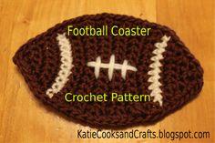 10 Free Crochet Coaster Patterns: Football Coaster Free Crochet Pattern