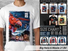 Kaos Animasi Big Hero 6 Wasabi, Kaos Big Hero 6 Baymax