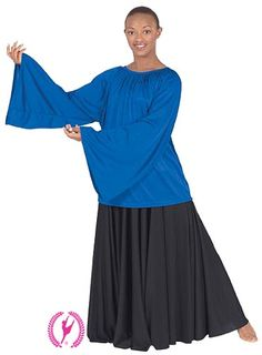 13730 Angel Sleeve Liturgical Dance Blouse