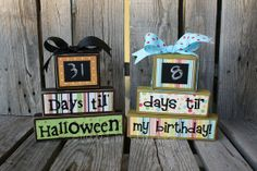 countdown blocks with chalkboard paint
