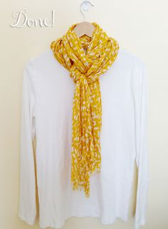 A cute way to tie a scarf that looks great on its own or under a jacket!