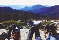 Hot chocolate on top of the mountain