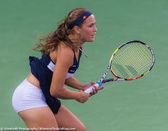Ellesse's Monica Puig showed more than her dress at the Dubai Duty Free Tennis Championships :)