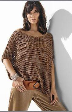 Crochet Tank Tops, Crochet Top, Sarah Pacini, Tunic Blouse, Crochet Stitches, African Fashion, Knit Dress, Crochet Projects, Emo