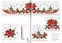 """ru / mornela - Album """"From the magazines"""" Just Cross Stitch, Cross Stitch Borders, Cross Stitch Flowers, Cross Stitch Charts, Cross Stitching, Cross Stitch Embroidery, Cross Stitch Patterns, Christmas Table Cloth, Rico Design"""