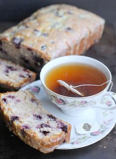 Baker Betty . Blueberry Lemon Sour Cream Quick Bread . { simple quick bread recipe . lovely & sweet & bursting with blueberries . perfect coffee time cake . the Great British Bake Off 2015 . Episode3 . signature bake } .