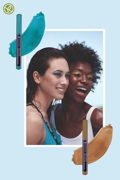 Blau oder Bronze? Was wird die Sommerfarbe für Deinen strahlenden Summer Look? Der wasserfeste Lidschatten-Stick Lifeproof ist Dein neuer bester Freund für ein perfektes Augen Make-up von morgens bis abends - auffrischen nicht nötig. #summerlook #lidschatten #bluemakeup Eyebrows, Bronze, Yves Rocher, Summer Looks, Durer, Makeup, Asian, Movie Posters, Movies