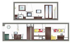 Ristrutturazione e arredo appartamento - Prospetti soggiorno - Maria Teresa Azzola Designer - Mozzo (BG) 2007