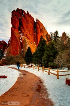 Garden of the Gods right outside Co Springs,  Colorado. I lived very close by. I miss my home! Used to rock climb there several times a week.