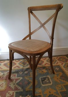 Gainsborough Farmhouse Dark Wooden Cross Back Dining Chair #VintageRetro