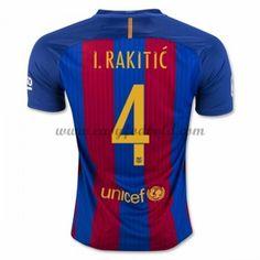 Fodboldtrøjer La Liga Barcelona 2016-17 I. Rakitic 4 Hjemmetrøje