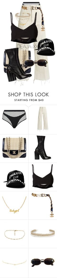 """Untitled #590"" by deaja-xx ❤ liked on Polyvore featuring Agent Provocateur, Rachel Comey, Chanel, Givenchy, Area Di Barbara Bologna, Maison Margiela and Versace"