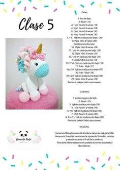 Patrón gratis amigurumi de UNICORNIO - amigurumis y más Poney Crochet, Crochet Teddy, Cute Crochet, Crochet Baby, Crochet Doll Pattern, Crochet Patterns Amigurumi, Crochet Dolls, Crochet Unicorn, Crochet Animals