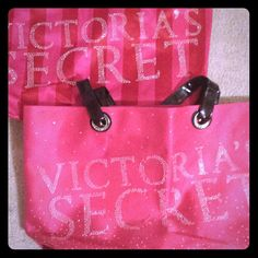 Totes Victoria Secret bag stripped in perfect condition like new! Victoria's Secret Bags Totes