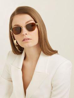 X Alessandra Rich square-frame sunglasses | Linda Farrow