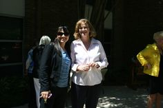 Brenda Schmachtenberger and Sandra Scott, Morningside Ministries, enjoying the beautiful day and reception. http://www.mmliving.org/