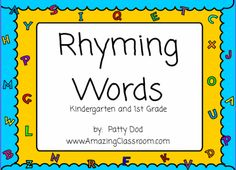 Rhyming Words Flipchart Lesson