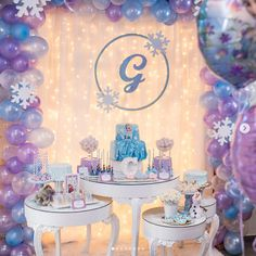 69 Ideas For Decor Winter Wonderland Frozen Party Frozen Birthday Decorations, Elsa Birthday Party, Cake Table Birthday, 2nd Birthday Party Themes, Frozen Themed Birthday Party, Disney Frozen Birthday, 4th Birthday, Cumple De Frozen Ideas, Festa Toy Story