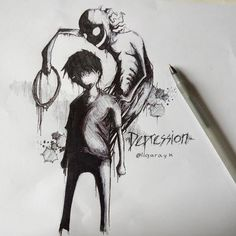 Scary Drawings, Dark Art Drawings, Creepy Images, Creepy Art, Arte Horror, Horror Art, Herren Hand Tattoos, Mental Health Art, Character Art