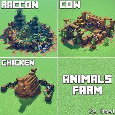 Minecraft Elevator, Minecraft Farm, Minecraft Video Games, Minecraft Medieval, Cute Minecraft Houses, Minecraft Plans, Minecraft House Designs, Minecraft Survival, Minecraft Construction