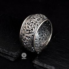 Silver Accessories, Silver Jewelry, Jewelry Bracelets, Jewellery, Simple Jewelry, Indian Jewelry, Handmade Silver, Wedding Gifts, Rings For Men