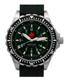 online shopping for Marathon Swiss Made Military Issue Jumbo Diver's Maple Leaf JSAR Watch MaraGlo from top store. See new offer for Marathon Swiss Made Military Issue Jumbo Diver's Maple Leaf JSAR Watch MaraGlo Sport Watches, Watches For Men, Dream Watches, Marathon Watch, Search And Rescue, Watch Sale, Watch Brands, Stainless Steel Bracelet, Chronograph