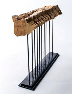 Minimalist Wood Sculpture Fine Art Wood Sculpture on by SplitGrain, $875.00