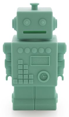 KG Design spaarpot robot mint 16 cm | PSikhouvanjou