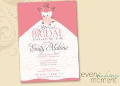 Bridal Shower Invitation -- custom, printable, digital -- Wedding Shower Invite on Etsy, $15.00