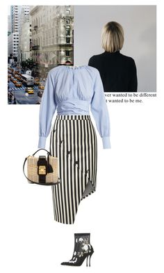 """""""To be me"""" by sandrafilipa ❤ liked on Polyvore featuring Diane Von Furstenberg, Altuzarra, Mark Cross, trending, casualoutfit, babyblue, winterstyle and stripesonstripes"""