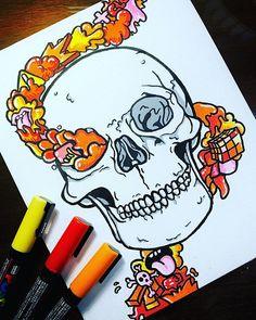 Doodle Artist || Zach Blosser (@zb_artz) • Instagram photos and videos Cute Doodle Art, Doodle Art Designs, Doodle Art Drawing, Graffiti Doodles, Graffiti Drawing, Graffiti Art, Epic Drawings, Colorful Drawings, Art Drawings Sketches