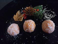 Yemas de coco y zanahoria