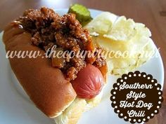 The Country Cook: Southern Style Chili Dogs
